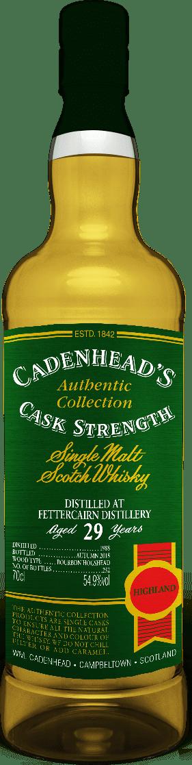 A Bottle of Fettercairn-29-YO