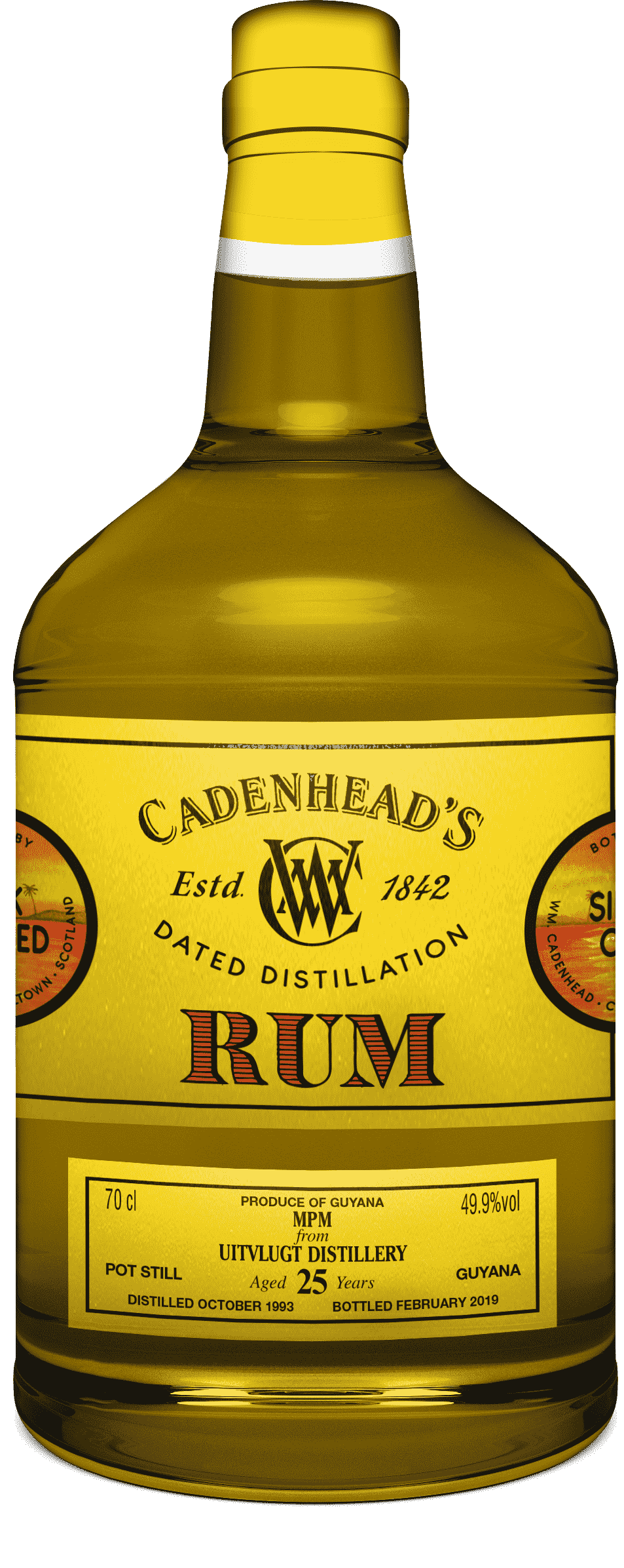 A Bottle of Dated-Distilled-Guyana-49.9