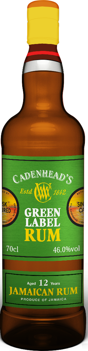 A Bottle of Green-Label-Rum-Jamaican-46%